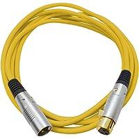 Seismic Audio SAPGX-10Yellow Premium 10' XLR Patch Cable Cord - 3 Pin XLRF to XLRM Mic Cord, Yellow