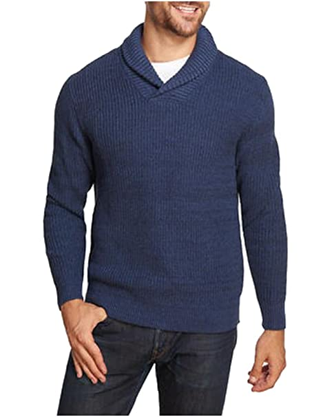1ce0392c635bfb Image Unavailable. Image not available for. Color: Weatherproof Vintage  Mens Shawl Collar Sweater