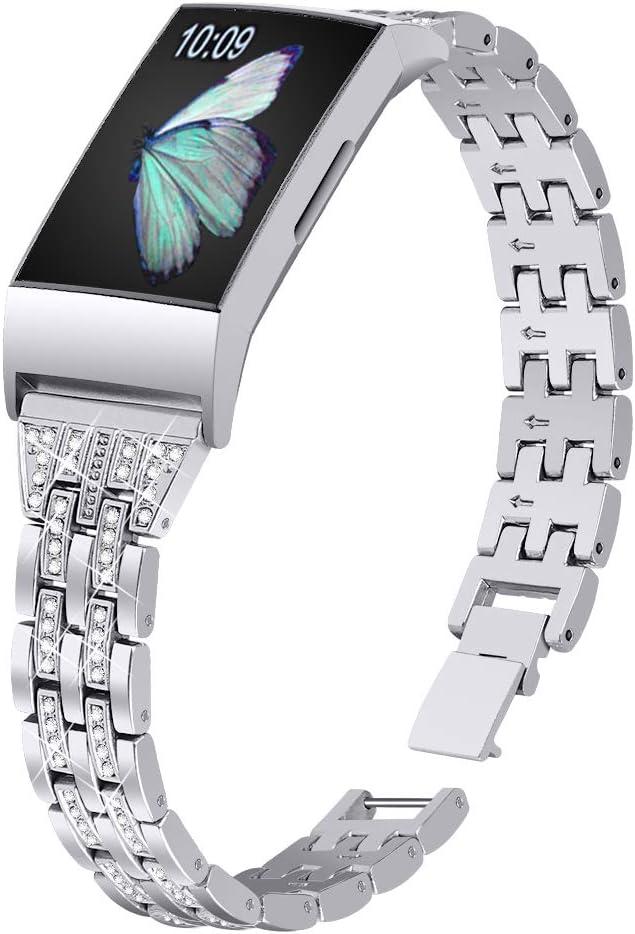 Joyozy Slim Bling Bandas Compatible con Fitbit Charge 3/Fitbit ...