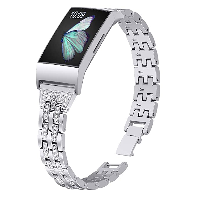 Joyozy Slim Bling Bandas Compatible con Fitbit Charge 3 ...
