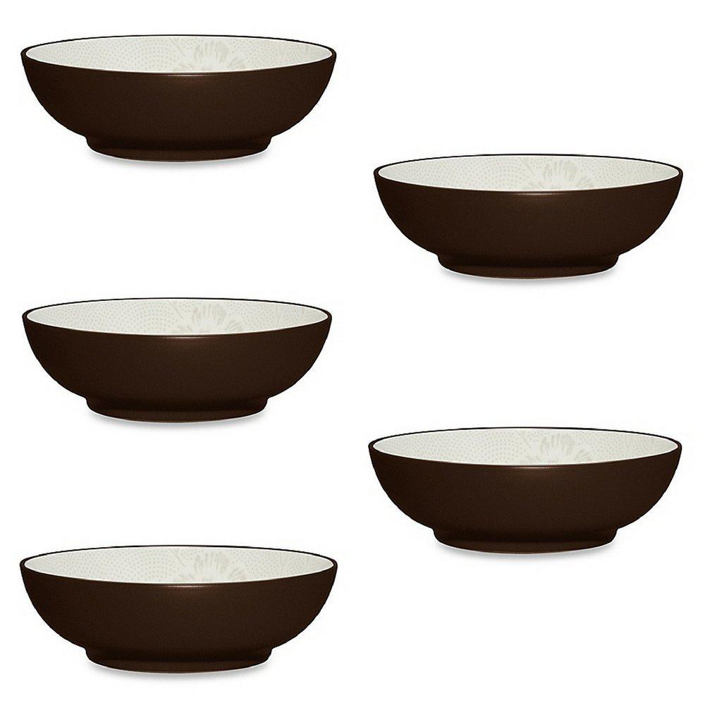 Noritake Colorwave Bloom Soup/Cereal Bowl 5pack, Chocolate