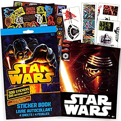Classic Star Wars Stickers & Tattoos Party Favor Pack (300 Stickers & 75 Temporary Tattoos)