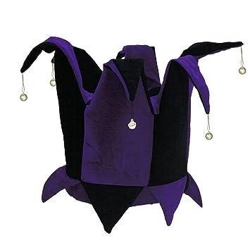 Amazon Velvet Jester Hat Royal Purple Black For Mardi Gras
