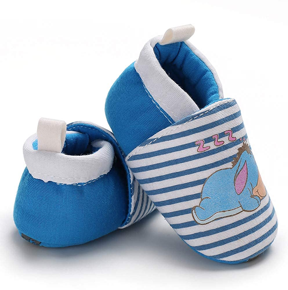 Lurryly❤2019 Snow Boots Warm Shoes Winter Baby Girls Boys Animal Floor Booties Slippers 0-18 M