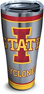 Tervis Ncaa Iowa State Cyclones Tradition Stainless Steel Tumbler With Lid, 30 oz, Silver