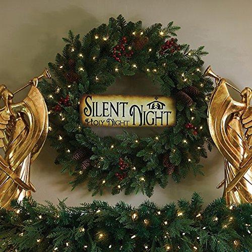 30'' Lighted Silent Night Christmas Wreath