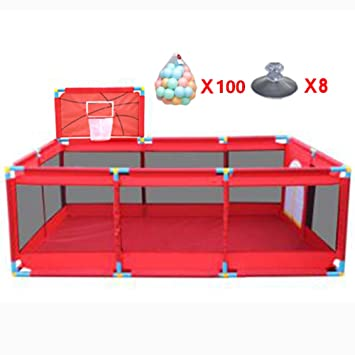 Amazon Com Large Portable Baby Playpen With Basketball Hoop And