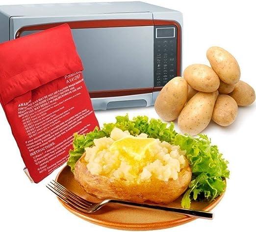 1 bolsa para cocinar patatas en microondas con bolsillo para arroz ...