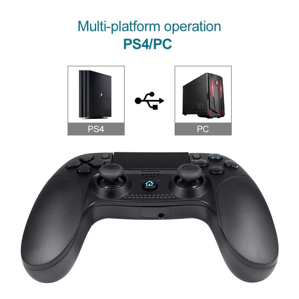 Pekyok SW22 Controlador inalámbrico para PS4, controladores clásicos Joystick Gamepad Controlador de juegos inalámbrico con conexión Bluetooth Dualshock ...