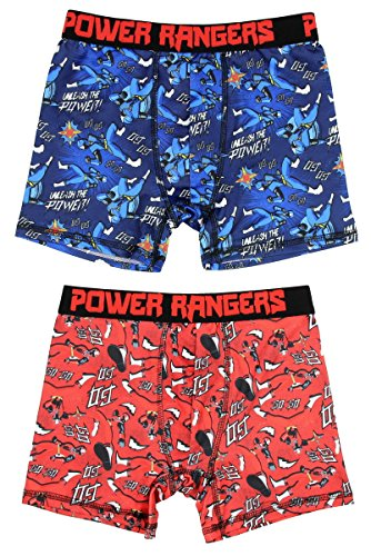 Sabans' Power Rangers Ninja Steel 2 Pack Boys Boxer Briefs Underwear Medium 8 (Stretch Power Boxer)