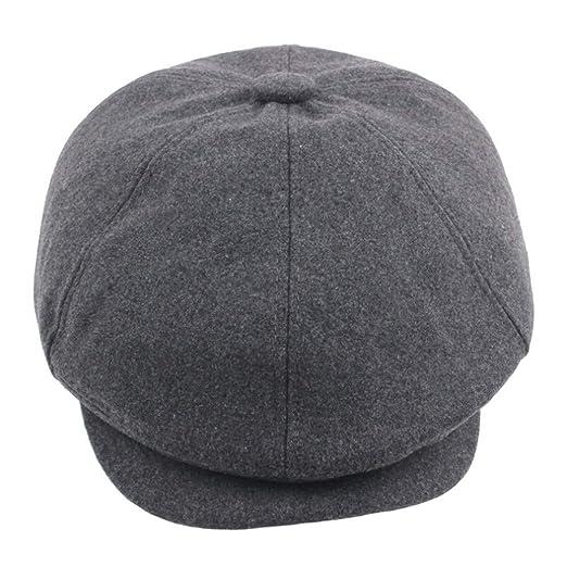 Herren Gatsby Mütze Newsboy Kappe Golfmütze Schiebermütze Flatcap Ballonmütze