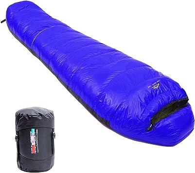 LMR Ultraligero Saco de Dormir Tipo Momia, para las 4 temporadas,a prueba de agua, Saco de compresión (Azul Rey): Amazon.es: Deportes y aire libre
