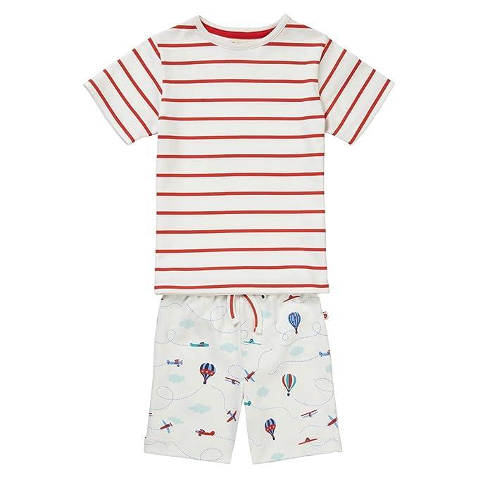 Piccalilly pijamas cortos, jersey de algodón orgánico, niños, avión