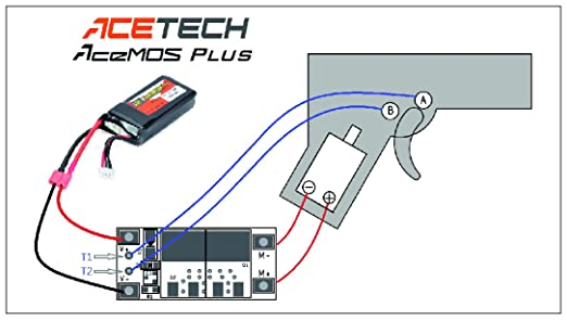 61YG1FjU RL._SX522_ amazon com acetech acemos plus airsoft mosfet sports & outdoors airsoft mosfet wiring diagram at readyjetset.co