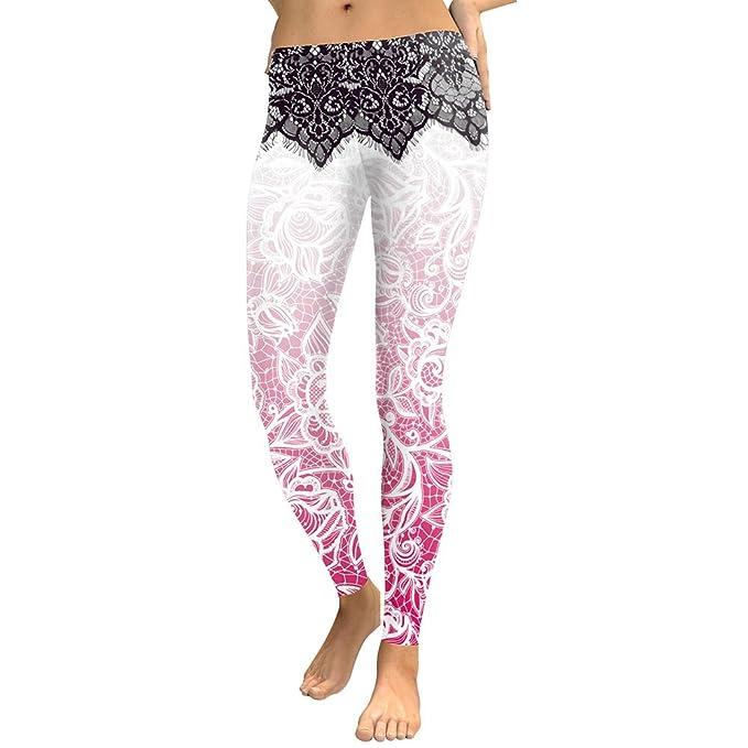 HXX Women Leggings High Waist Pants Mandala Flower Digital ...