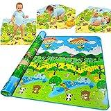 baby play pad - Baby Crawling Mat Game Play Pad, Non-Toxic Non-Slip Waterproof Blanket[US Stock]