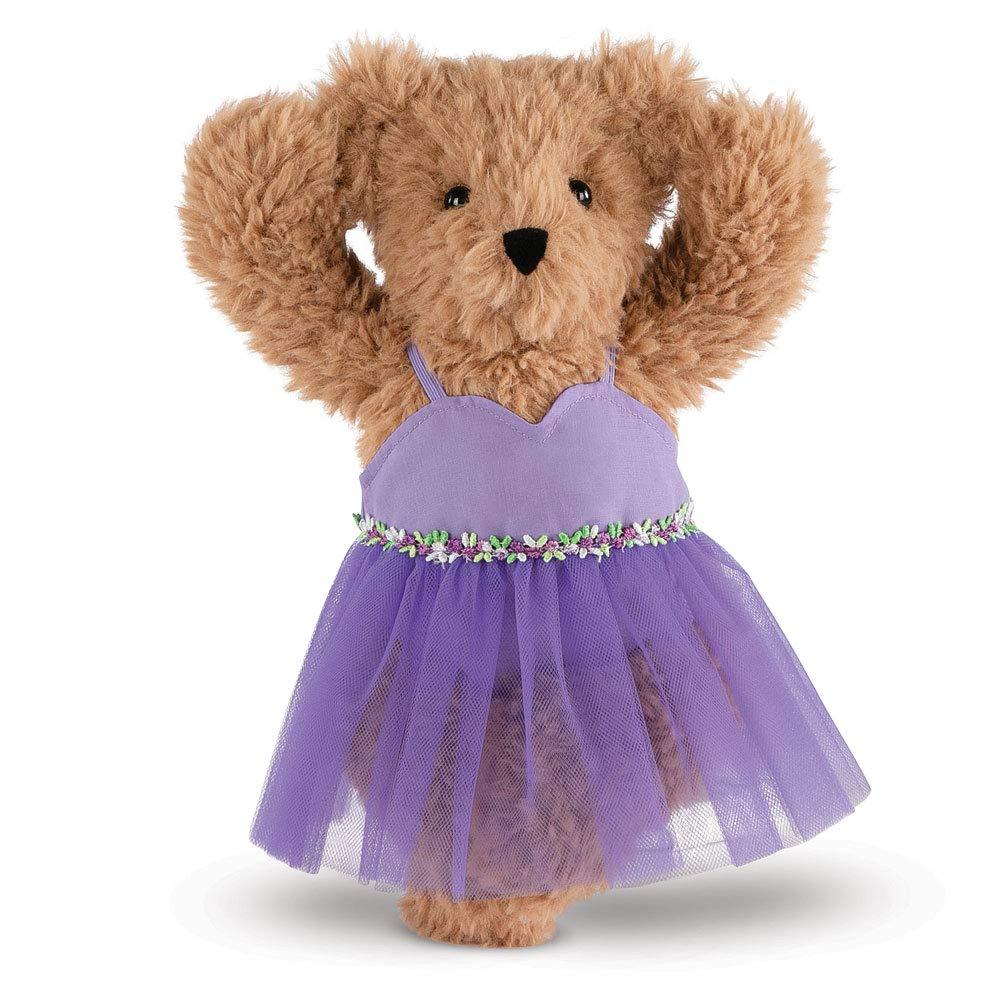 Vermont Teddy Bear - Super Soft Teddy Bear, Plush Bear in Purple Ballet Dress, Brown, 13 inches by Vermont Teddy Bear