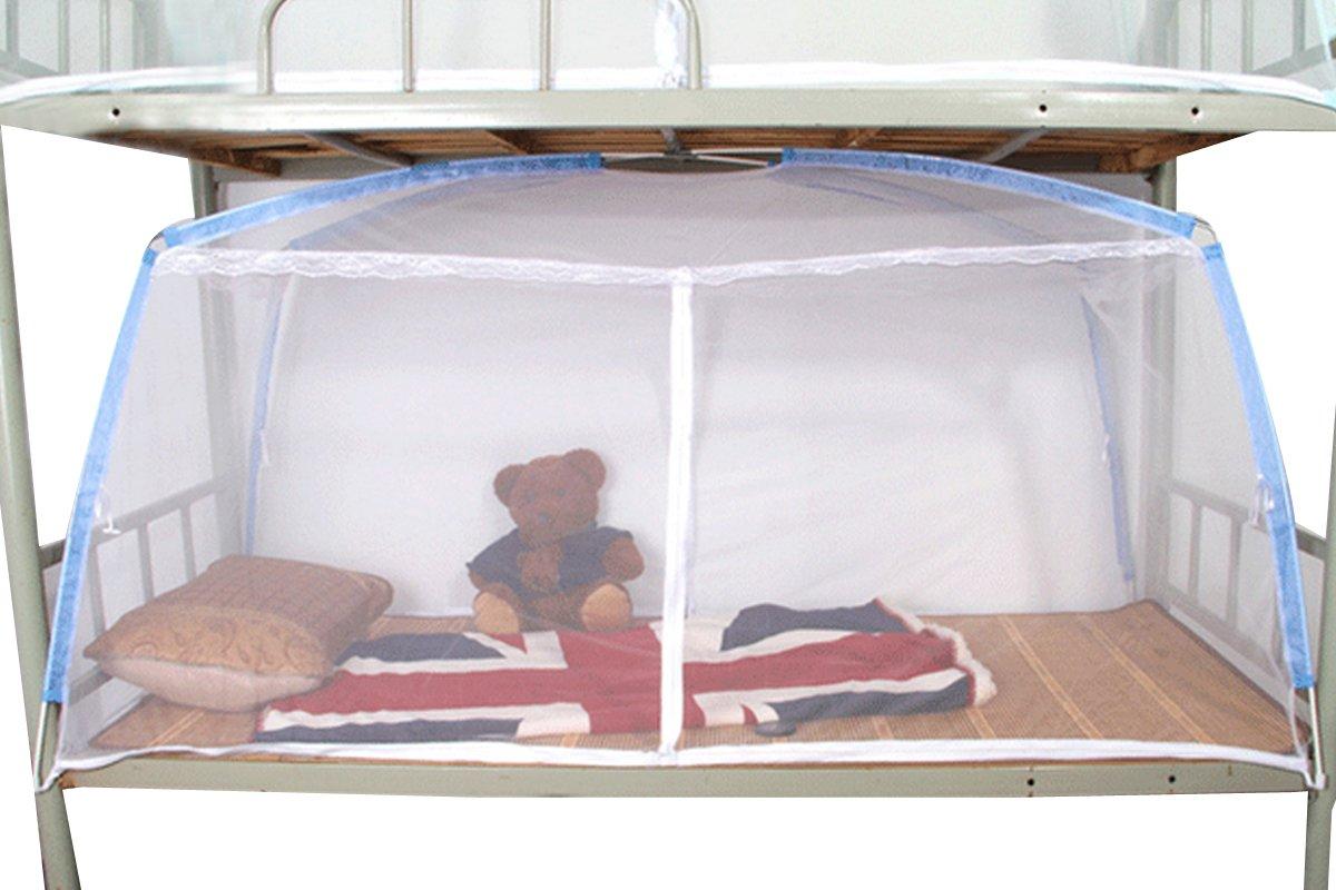 Mosquito Nets millya Tente Design fermeture Éclair Moustiquaire ciel de lit couverture à 360° protection 100pour la maison, l'école, camping et randonnée, pour lit simple l' école