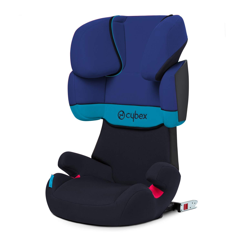 Cybex - Silla de coche grupo 2/3 Solution X-Fix, para coches con y sin ISOFIX, 15-36kg, desde los 3 hasta los 12 años aprox., Azul (Blue Moon)