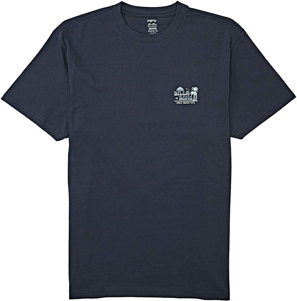 Billabong Mens Classic Short Sleeve Premium Logo Graphic T-Shirt