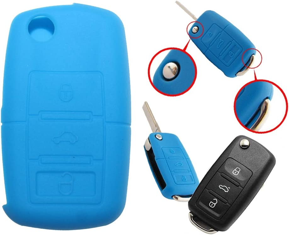tuqiang® 1pc Azul 3 botones plegables llaves Llave Cover Funda ...