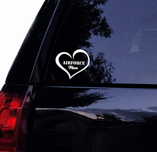 I Heart Serviceman Military White Vinyl Car Decal New Gift