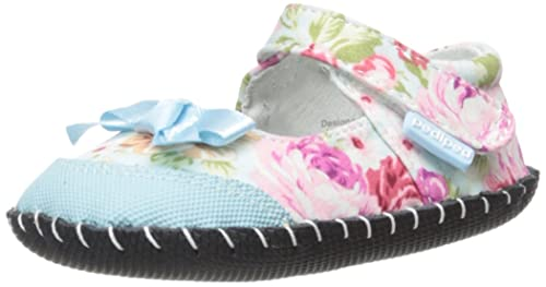 pediped Louisa, Mocasines Bebé-Niña, Azul (Blue Floral), 12-18 Meses: Amazon.es: Zapatos y complementos