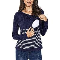 FeelinGirl Women's Nursing Hoodie Long Sleeves Casual Tops Breastfeeding Clothes M-XXL