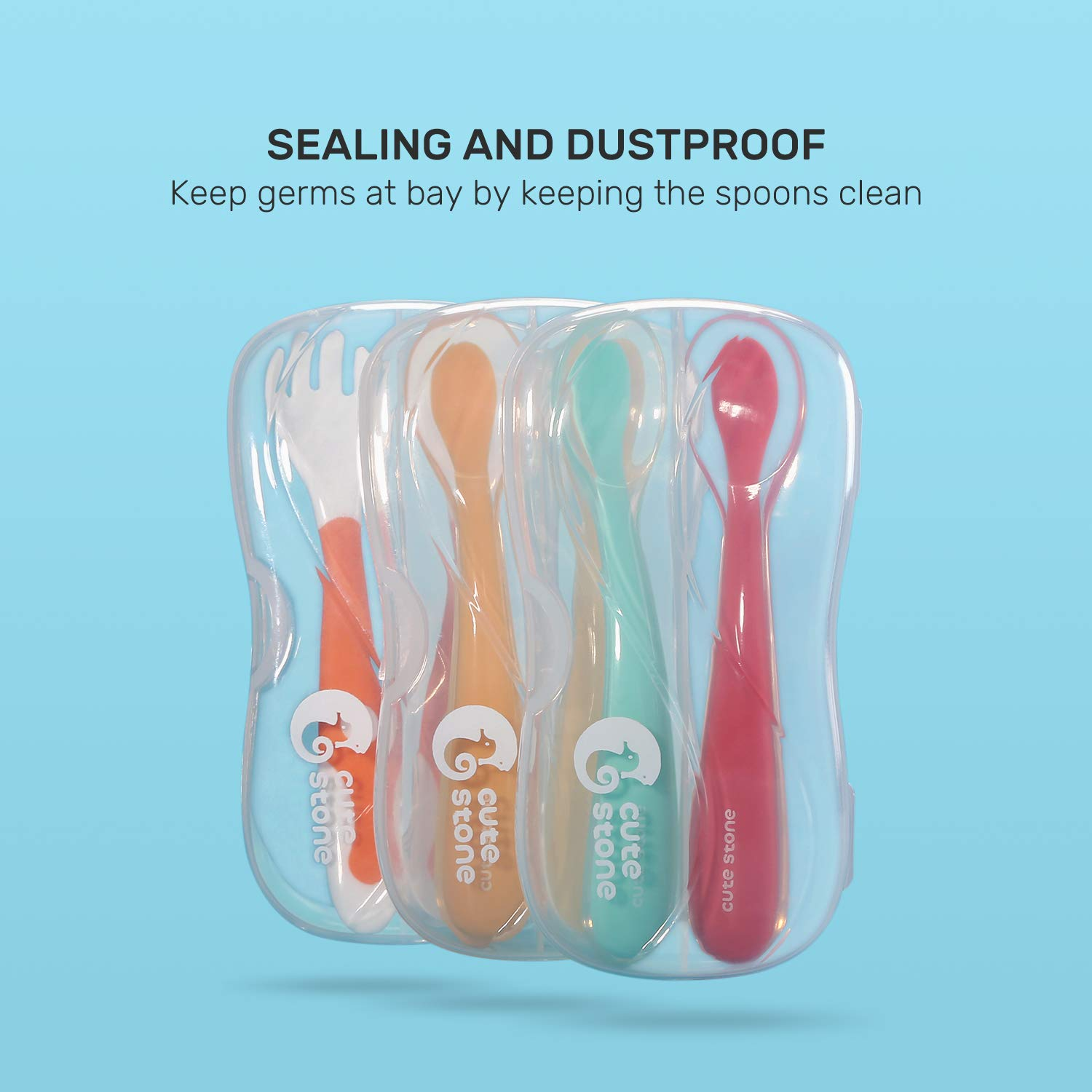 Travel Carrying Case for Cute Stone Spoons Spoons and Forks Sets