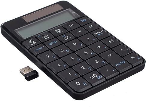 Garyesh 2 en 1 Teclado y Calculadora Numéricos Inalámbricos ...