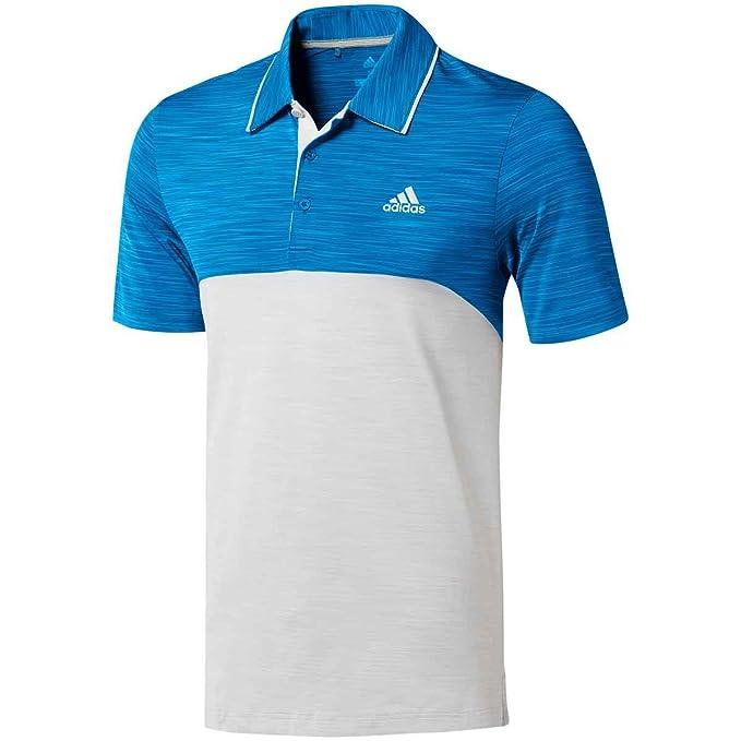 343f8efa adidas Fall Ultimate 365 Heather Blocked Golf Polo 2018 Bright Blue/Gray  One Heather Small