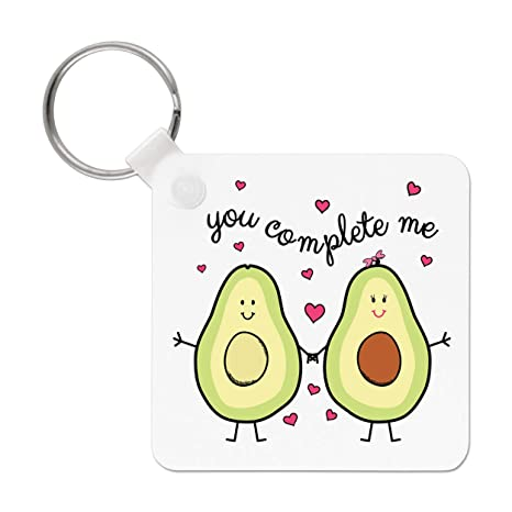 Gift Base Aguacate You Complete Me Llavero: Amazon.es: Amazon.es