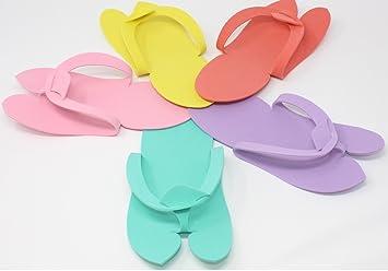 0b5f306d52e6 Amazon.com   Omwah 360 Pair Disposable Foam Pedicure Slippers Multi Color  Flip Flop Nail Salon Spa   Beauty