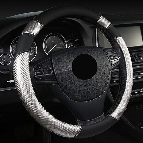 /antiscivolo copertura della protezione Brand New nero universale del volante in pelle/
