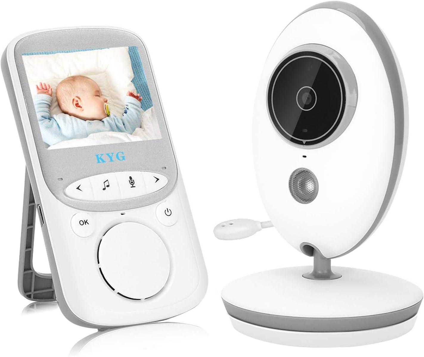 Vigilabebés con Cámara Inalámbrico Monitor para Bebés con LCD 2.4 Pulgadas y Cámara Visión Nocturna, Función de Vigilancia de la Temperatura Modo VOX Alcance de 260 Metros
