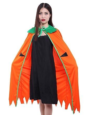 women and men adult pumpkin cloak halloween costume accessory 47