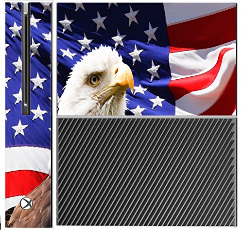 Sticker Skin Print Sticker Skin Print Flag Emblem Stars Stripes Eagle Inspirational Xbox One Console Vinyl Decal Sticker Skin by Smarter Designs