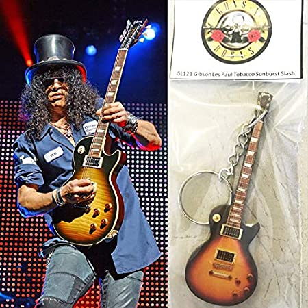 Amazon.com: Llavero Guitarra Gibson Les Paul Tobacco Slash ...