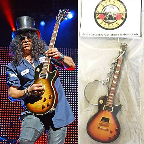 Keychain Guitar Gibson Les Paul Tobacco Slash Guns N ()