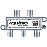 Splitter com 4 Saídas, 5-1000Mhz, Aquario, SP-04, Prata, Pequeno
