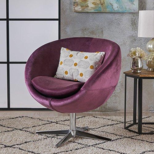 Christopher Knight Home 303627 Isabella Modern Raisin Velvet Chair,