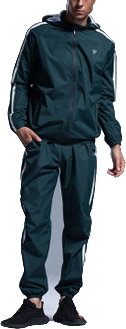 Herren Gym Kleidung Set, Sauna Sweat Anzug Für