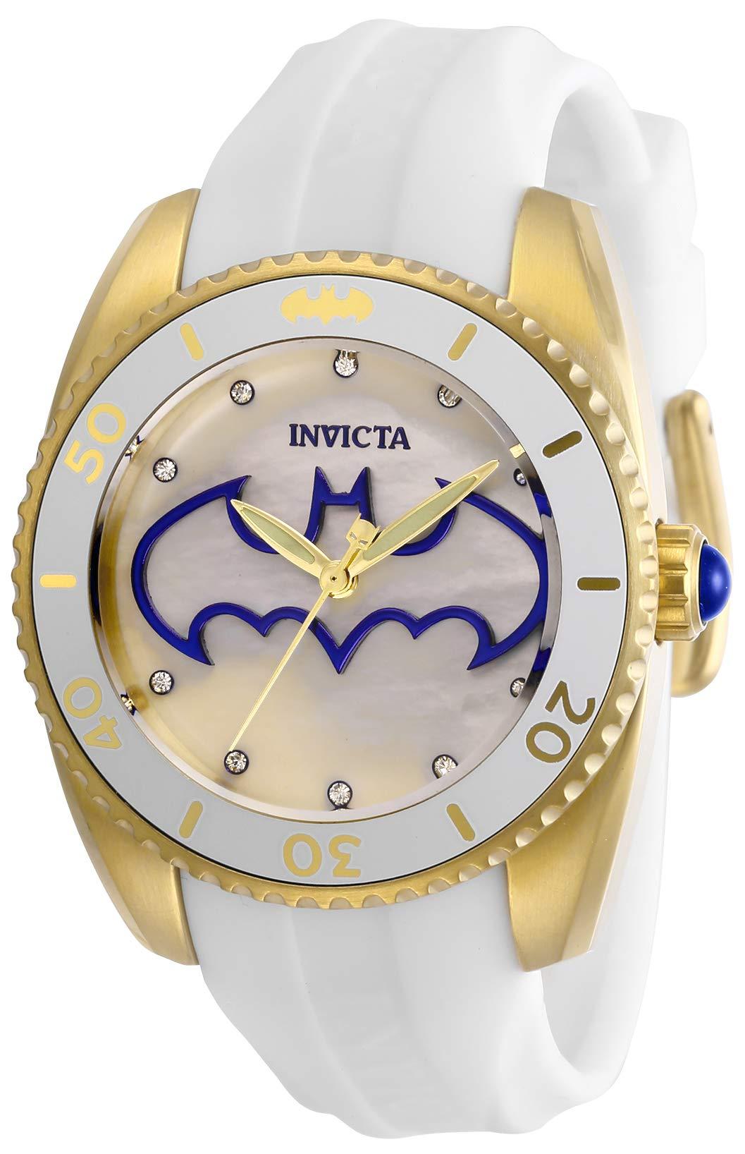 ویکالا · خرید  اصل اورجینال · خرید از آمازون · Invicta Women's DC Comics Stainless Steel Quartz Watch with Silicone Strap, White, 18 (Model: 29300) wekala · ویکالا
