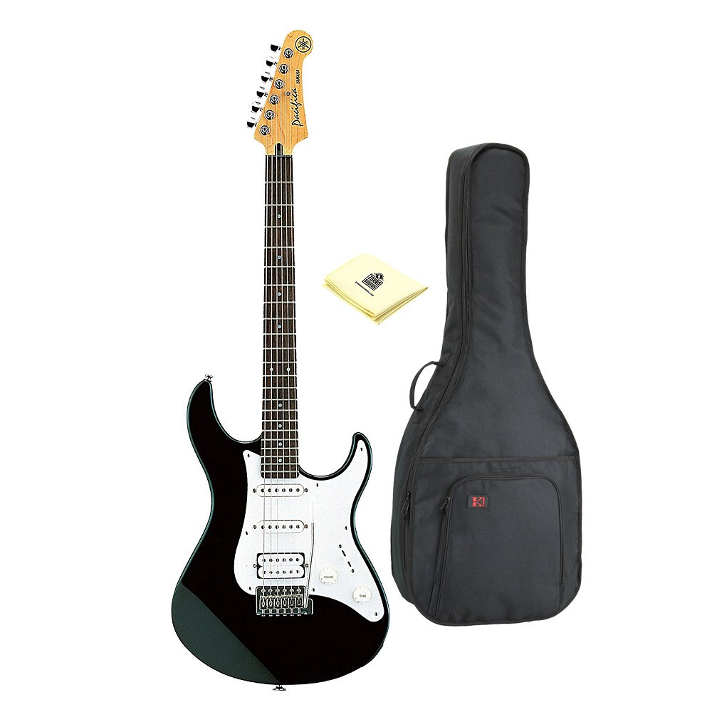 Amazon.com: Yamaha Pacifica Series PAC112J Electric Guitar; Black With Kaces KQA-120 - Kaces GigPak Acoustic Guitar Bag And Custom Designed Instrument ...
