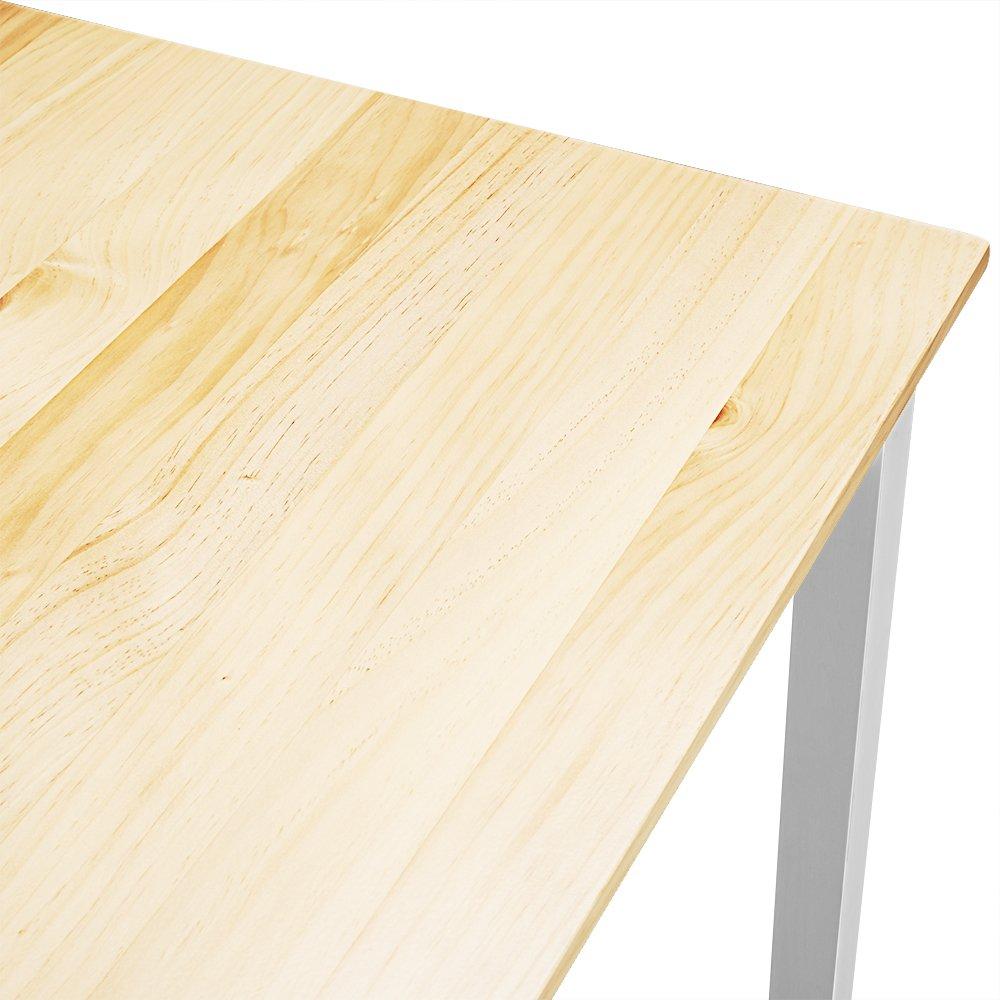 4 Chaises pour Salle /à Manger Cuisine furniture-uk-shop Ensemble Table en Bois Poids: 27kg S/éjour Gris+Bois Caf/é