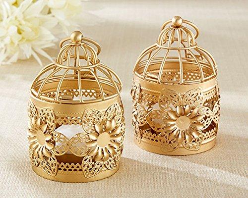 25 Gold Floral Lanterns by Kate Aspen