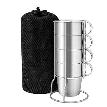 1 Set Doppelwandige Tasse Kaffee Tasse 300 ml Edelstahl Tasse für Küche