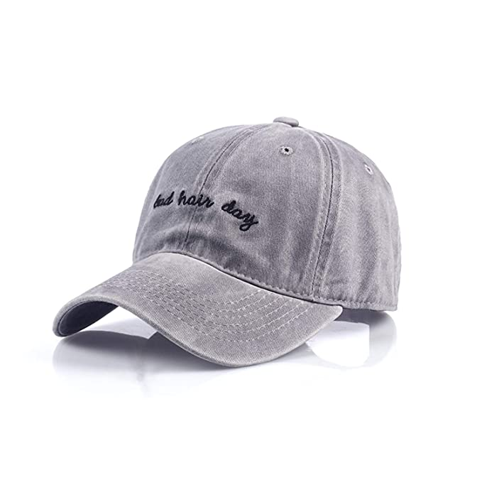 8ed7d622bac New Bad Hair Day Cap Washed Cap Women Men Hat Cap Casual Snapback Letter  Dad Hat