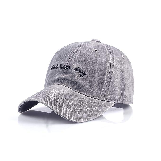 c9295c17c2cf New Bad Hair Day Cap Washed Cap Women Men Hat Cap Casual Snapback Letter  Dad Hat