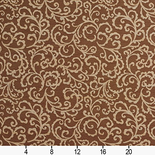 410bx Brown And Cream Trellis Upholstery Fabric By The